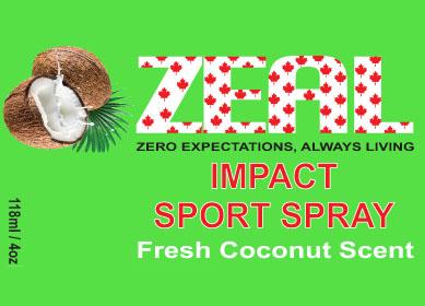Zeal Impact Sprots Spray